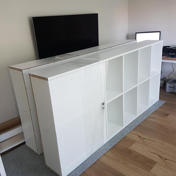 Bookshelving & cabinetry doors fitted in Port Melbourne