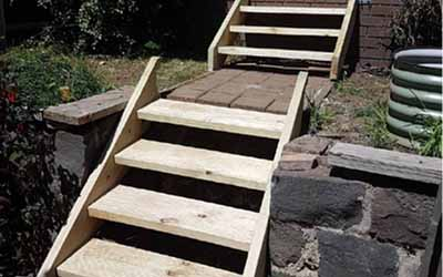 Replacement backyard stairs Pascoe Vale